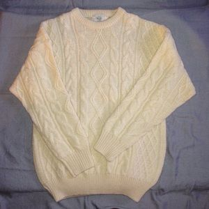 Blarney Woollen Mills Other - Blarney Men's wool sweater in cream white