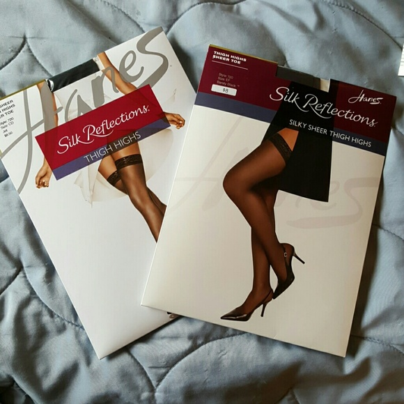 33df234ad54e7 Hanes Accessories | Silk Reflections Thigh Highs 2 Pairsefcd | Poshmark