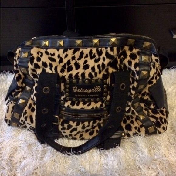 17533a46b874 Betsey Johnson Bags | Betseyville Leopard Studded Bag | Poshmark