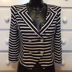 Gracia Jackets & Blazers - 🎉SALE🎉 Gracia Blue and White Striped Blazer