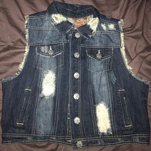335c13b2457 Vanilla Sky · Like new girls sleeveless jean ...