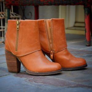 Sbicca Shoes - High Heel Leather Boots | Sbicca Vintage