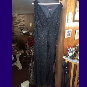 Marina Bresler Dresses & Skirts - Size 18 Marina Bresler Black Long Beaded Dress