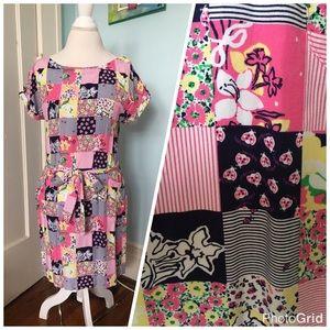 Lilly Pulitzer boatneck patchwork dress