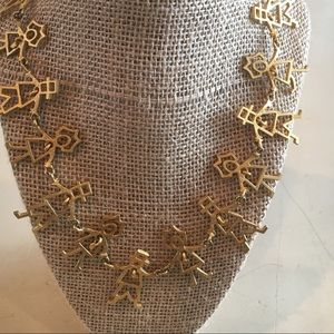Jewelry - Gold toned necklace with hearts in each child.