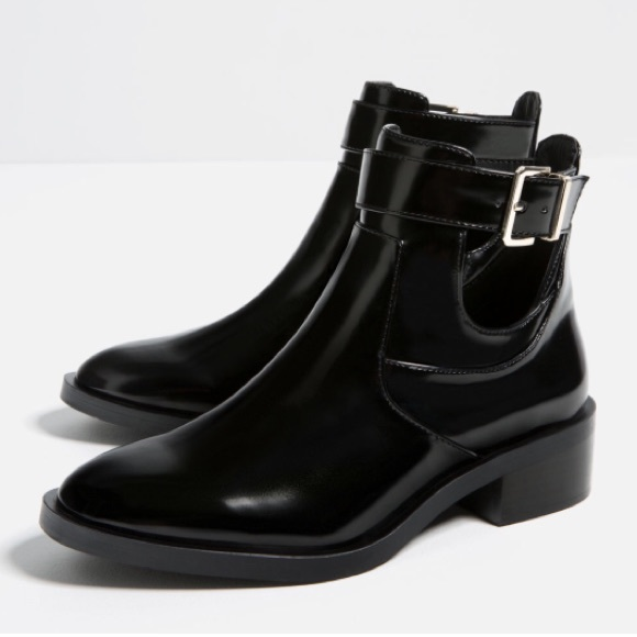 40% off Zara Shoes - Zara Flat Cutout Ankle Boots from Maegan's ...