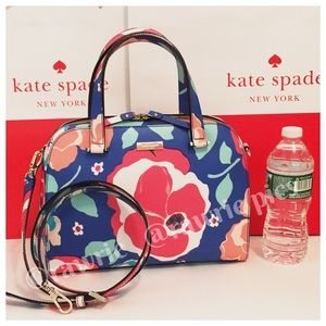 New Kate Spade felix multicolor floral satchel