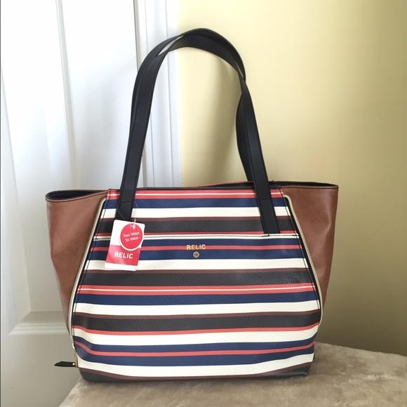 a7038c68fb Relic Emma Striped Tote Bag