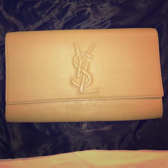 3439998c599 Yves Saint Laurent Bags | Ysl Beige Envelope Clutch | Poshmark