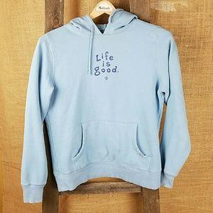 Life is Good women's semi fitted hoodie sweatshirt