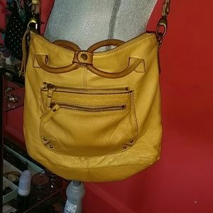 Lucky Brand Buttery Leather Crossbody Tote Bag