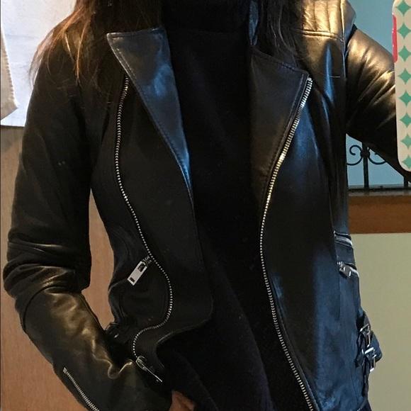 6cc76ab4f SALE!!! Zara Trafaluc Leather Jacket Black XS