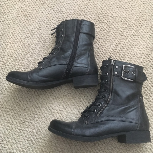 g by guess black combat boots