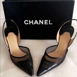 Authentic Chanel Slingback Heels