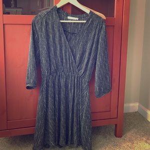 Lush faux wrap dress