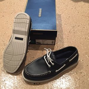 Sebago Other - Sebago Grinder navy blue Boat shoes!