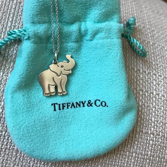 83b3505e3 Tiffany and Co Elephant Charm Necklace. M_587146d978b31cf51e08b539