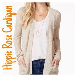 Hippie Rose Sweaters - Hippie Rose White Open Front Cardigan Size Large
