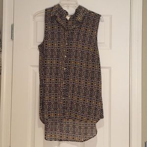 H&M Patterned Sheer Tank, Sz 10 (L)