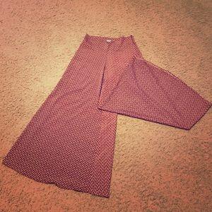 Free People Pants - Audrey Wide-leg Printed Pants