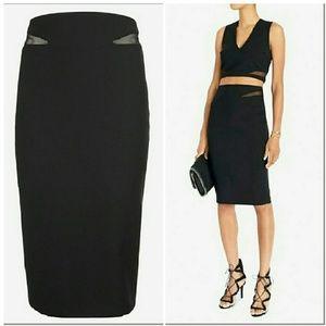 Elizabeth and James Dresses & Skirts - Elizabeth & James Black Otto Mesh Inset Skirt 0