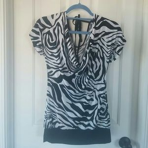 Body Central Tops - Body Central zebra print top