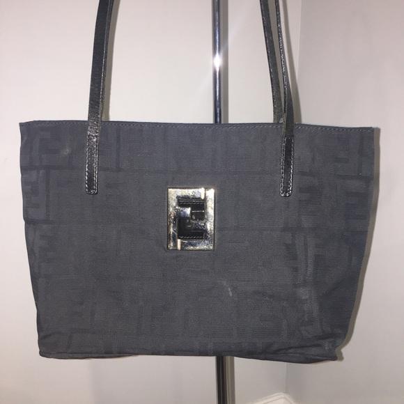 2e5937d415 Vintage Black Fendi Logo FF Shoulder Mini Handbag