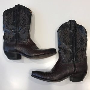 Tony Lama Shoes - Vintage Tony Lama Lizard Skin Cowboy Boots 🐴