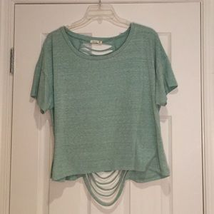 Soprano Ripped Back Shirt, Green. Sz L.