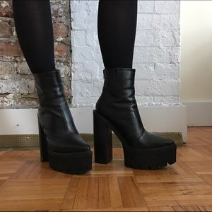 Jeffrey Campbell pointed toe Mulder Boots