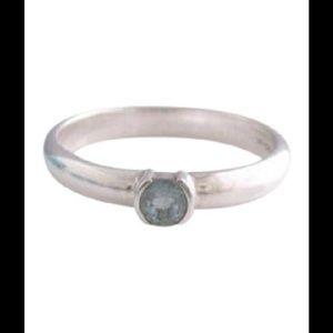 Tiffany & Co. Jewelry - Tiffany & Co. Aquamarine designer stacking ring