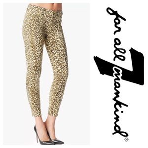 7 For All Mankind Denim - 7 For All Mankind Jeans Cheetah Crop Skinny 30