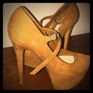 H by Halston Shoes - Tan mary jane suede Pumps - H by Halston