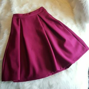 Chicwish Purple Magenta Midi Skirt
