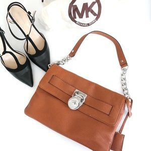 MICHAEL Michael Kors Brown Leather Clutch
