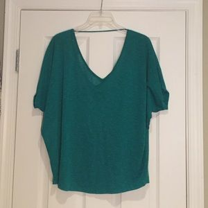 Express Short Sleeve Shirt in Teal, Sz L