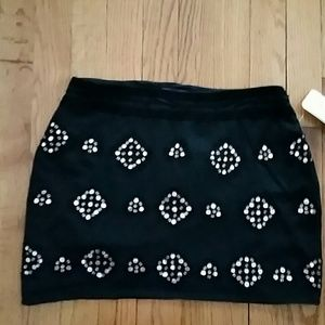 Gryphon Dresses & Skirts - Gryphon Black Silk Sequin Skirt NWT