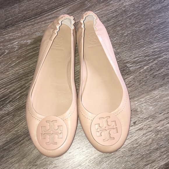 Tory Burch Minnie Travel Ballet Flat Nude Size 7