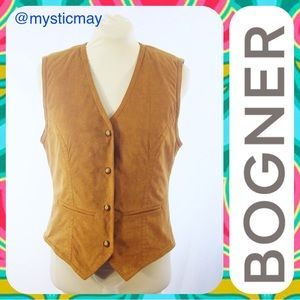 Bogner Jackets & Blazers - BOGNER Brown Embroidered Rodeo Trim Ski Vest 8 / M
