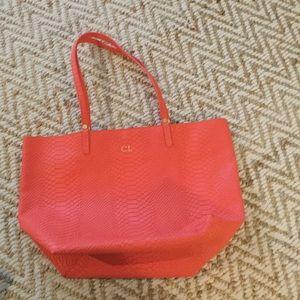 GiGi New York Handbags - Gigi New York Tori Tote in Coral