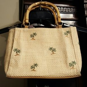 Woven Palm Tree Bag