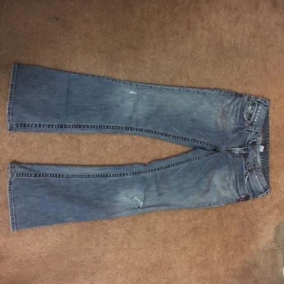 91% off Silver Jeans Denim - Silver Jeans 29/31 Destroyed Flare ...