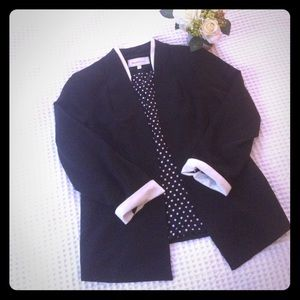 Jackets & Blazers - Black and White Blazer Jacket