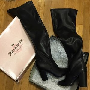Juicy Couture Shoes - Faux leather over the knee boots