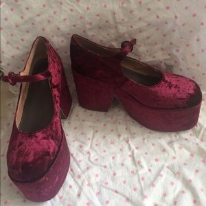 Jeffrey Campbell Shoes - Maroon Jeffrey Campbell