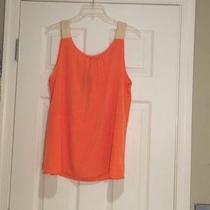 Tops - I•ner Orange Sleeveless Shirt, Sz L