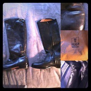 Frye Tall Black Riding Boots
