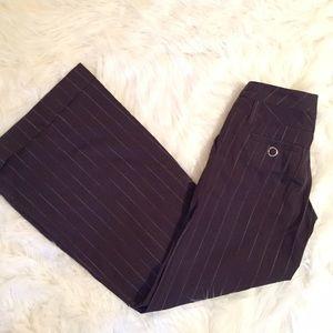 Elevenses pinstripe wide leg lowrise trousers sz 0