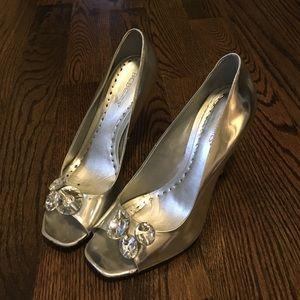 BCBGirls Shoes - Silver BCBGgirls high heels