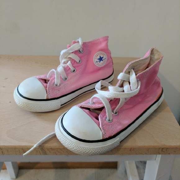 cab52e55d629f2 Converse Other - Converse toddler girls high tops size 8